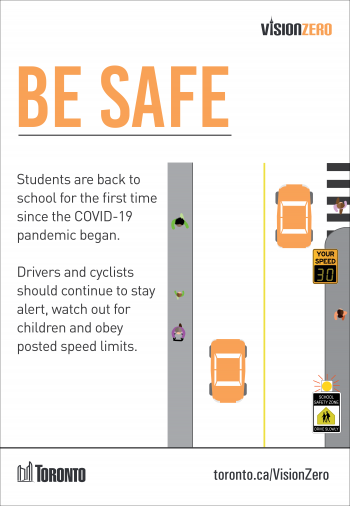 Students are back to school for the first time since the COVID-19 pandemic began. Drivers and cyclists should continue to stay alert, watch out for children and obey posted speed limits.