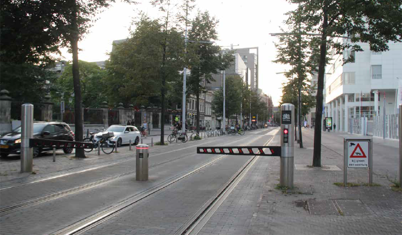 Example of automated gate. Den Haag, Netherlands.