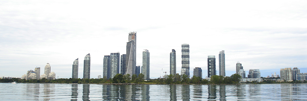 Image showing view of Humber Bay Shores skyline from Lake Ontario, adjacent of the Christie's Planning Study area
