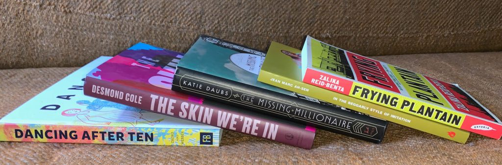 Five Toronto Book Awards 2020 finalist books stacked