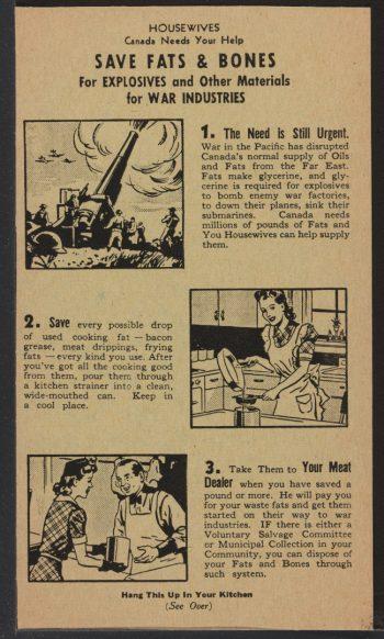 Wartime information brochure