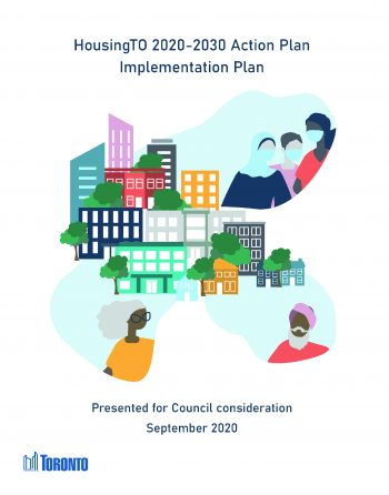 Title Page of the HousingTO 2020-2030 Action Plan Implementation Plan