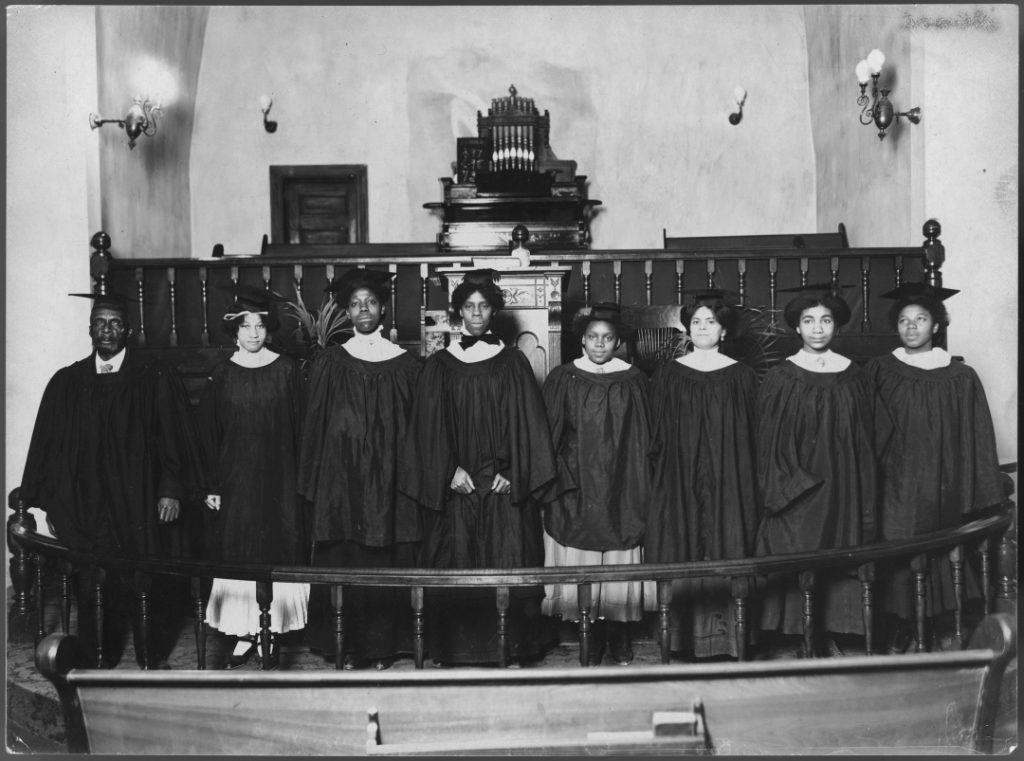 Photograph of church choir