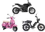several types of motorized bikes
