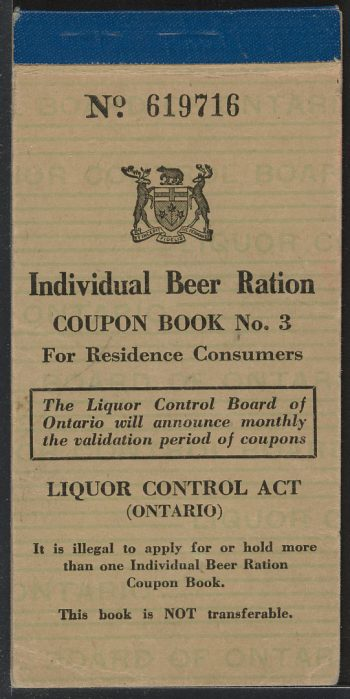 Wartime beer ration book
