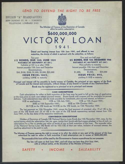 Victory Loan poster