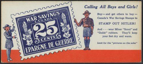 War Savings blotting card