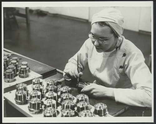 Female worker in GECO factory