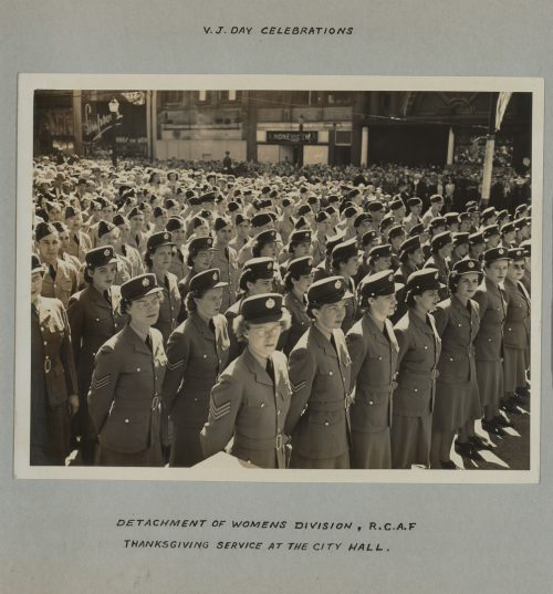 RCAF Women's Division parade