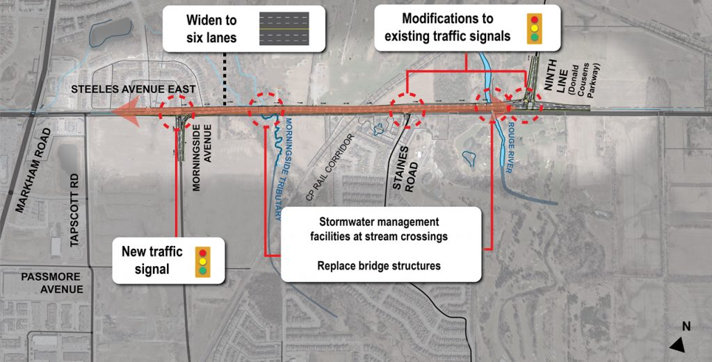 Steeles Widening Map