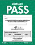 BodySafe green inspection pass notice (poster)