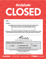 BodySafe red inspection closed notice (poster)