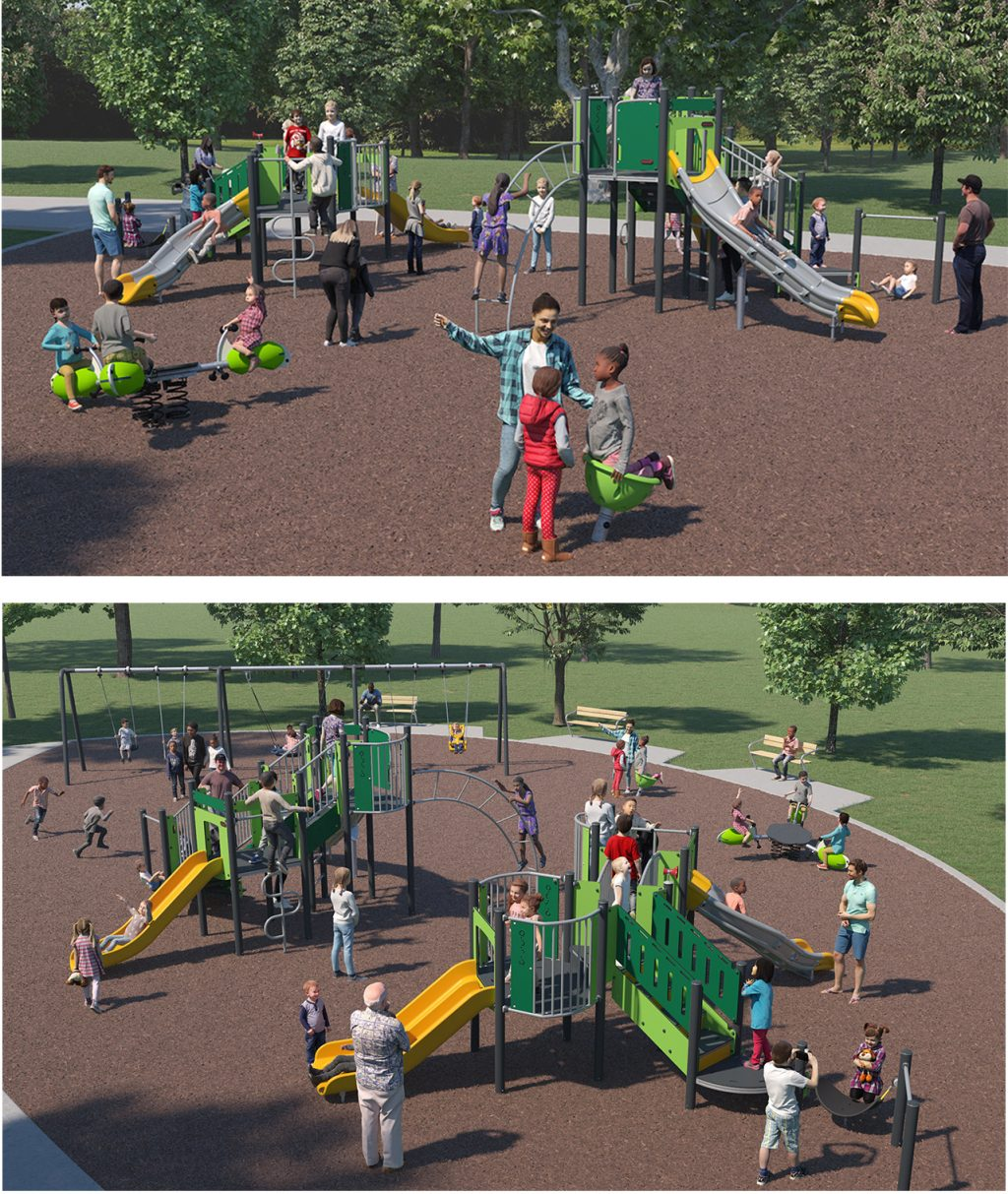 Playground Equipment B for Layout Option Two (Circular Layout) as described below.