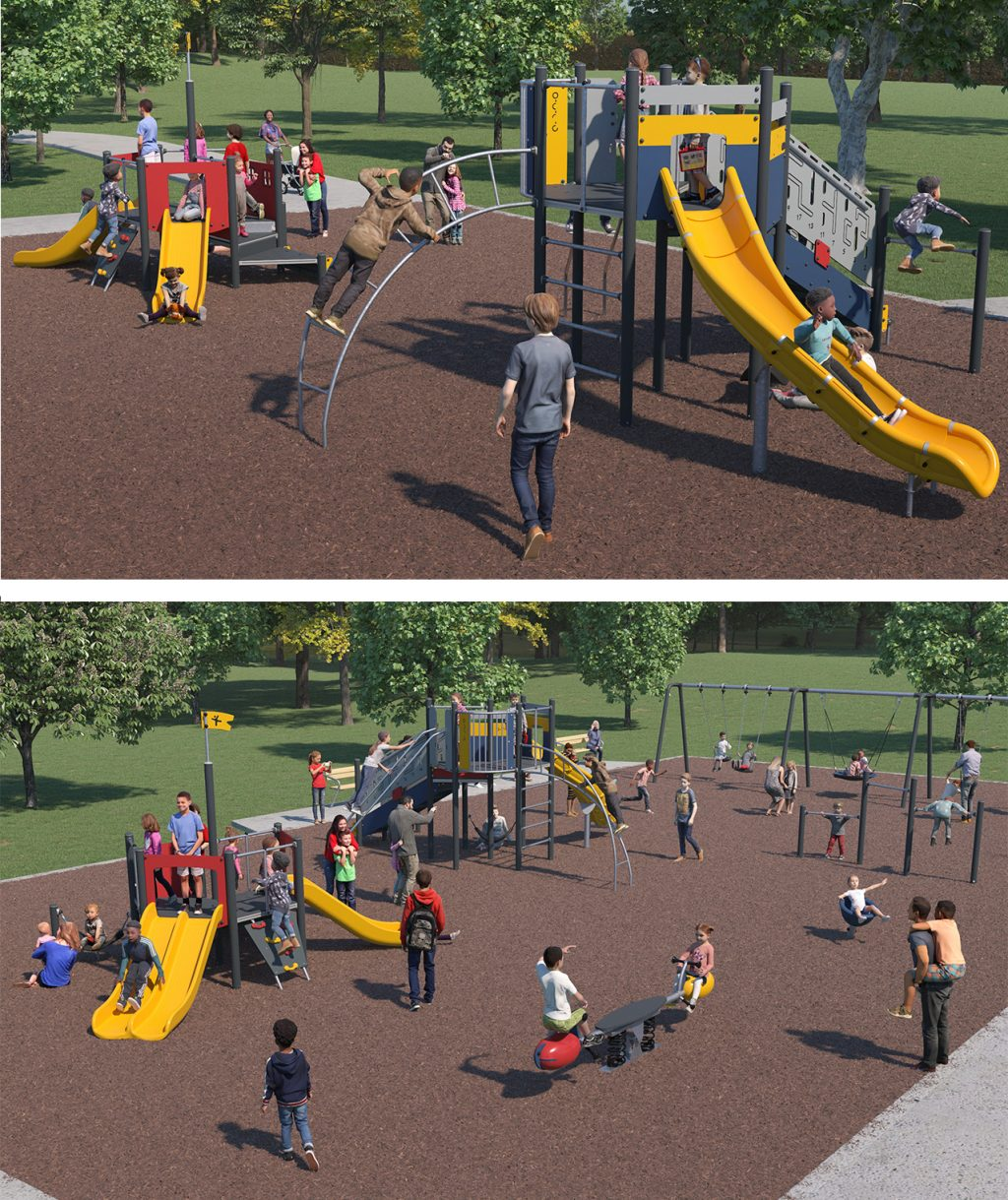 Playground Equipment B for Layout Option One (Rectangular Layout) as described below.