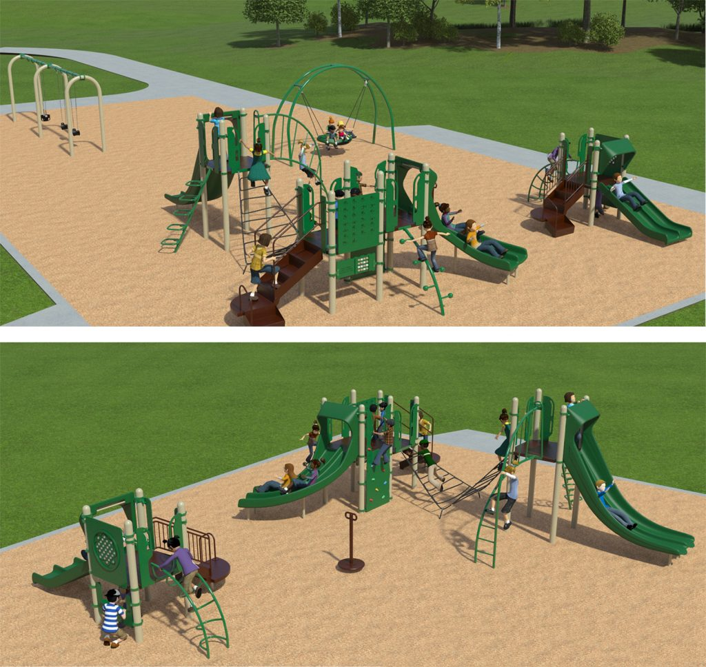 Playground Equipment A for Layout Option One (Rectangular Layout) as described below.