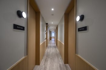 hallway with wooden floor