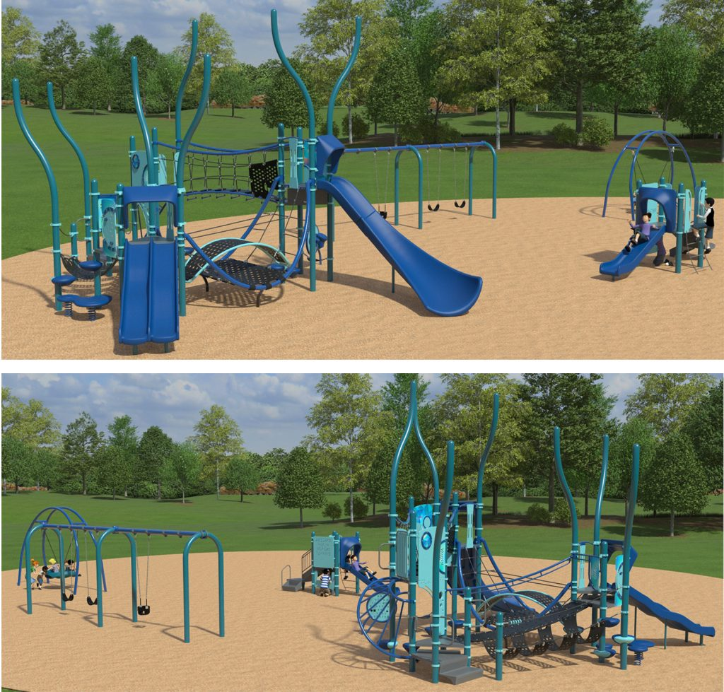 Playground Equipment A for Layout Option Two (Circular Layout) as described below.