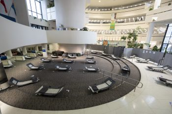 birds-eye view of beds in the scarboough civic centre rotunda