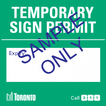 Temporary Sign Sample
