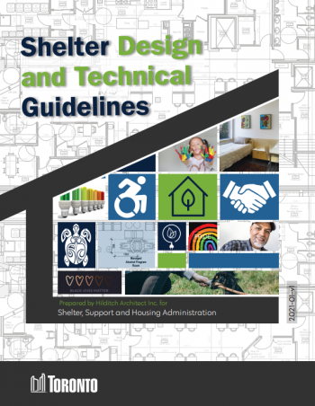 Front cover of the Shelter Design and Technical Guidelines document
