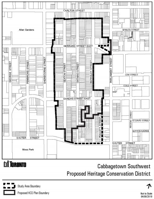 This is a map of the Cabbagetown Southwest HCD Study Area boundary