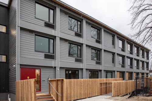 External view of the modular building at 321 Dovercourt
