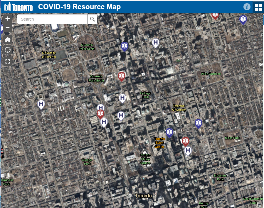 COVID-19 Map Map displayed with Imagery as the basemap