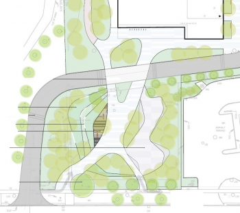 The site plan for the facility and park.