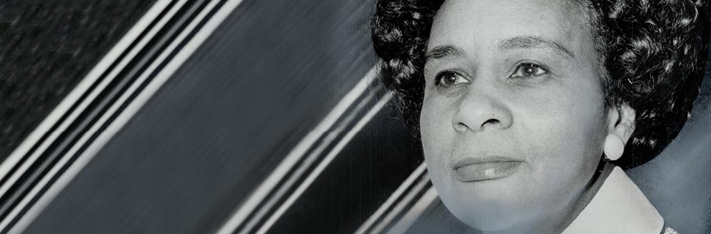 Black and white portrait of Kay Livingstone