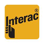 INTERAC logo, yellow and black