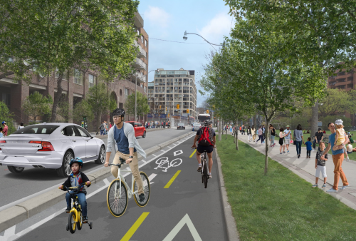 A rendering of the proposed changes on The Esplanade.