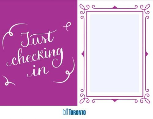 Just checking in_ecard cover