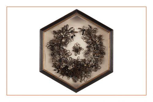 a wreath made of human hair