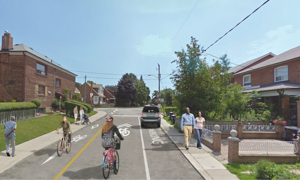 Rendering of proposed changes on Winona Drive.