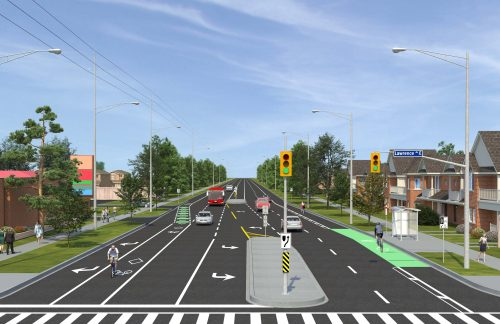 Artist Rendering - Port Union Road and Lawrence Ave East - Looking North