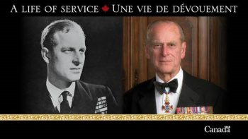 Images of Prince Philip with the words A Life of Service
