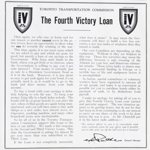 Article about contributing to victory loans