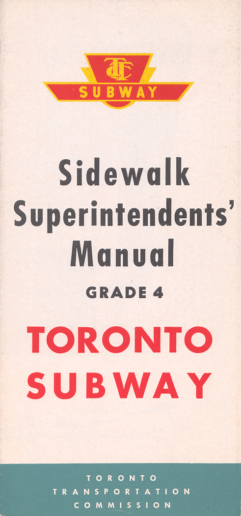 Cover of brochure with the TTC logo.