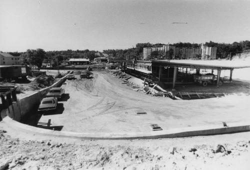 York Mills Subway Station under construction from street level.