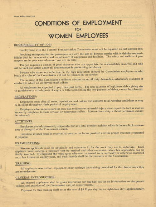 Page one of a contract