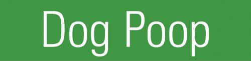 public organic waste bin sticker with Dog Poop copyaste