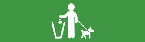 public organic waste bin sticker image for dog waste