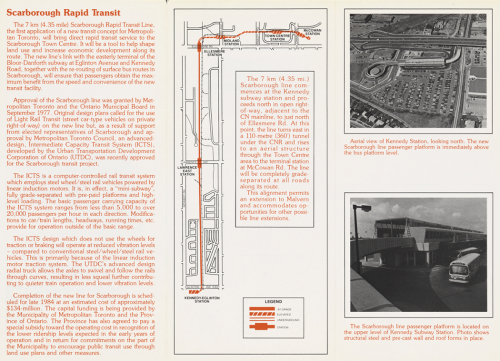 Pamphlet showing route map and Kennedy Station.