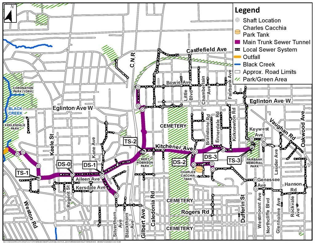 Fairbank storm sewer system map