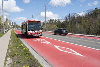 bus using RapidTO bus lane.