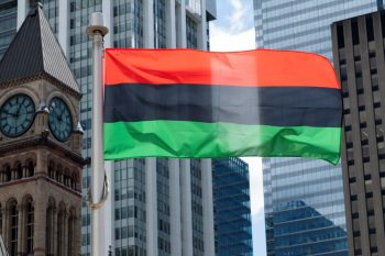 The Black Liberation flag was raised to mark the start of Emanicipation Month