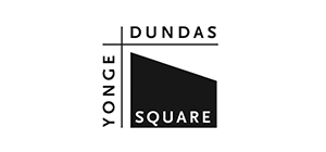 Black and white Yonge Dundas logo
