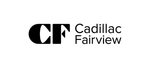 Black and white logo of Cadillac Fairview