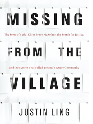 Book jacket, Missing From the Village by Justin Ling (Penguin Random House Canada)