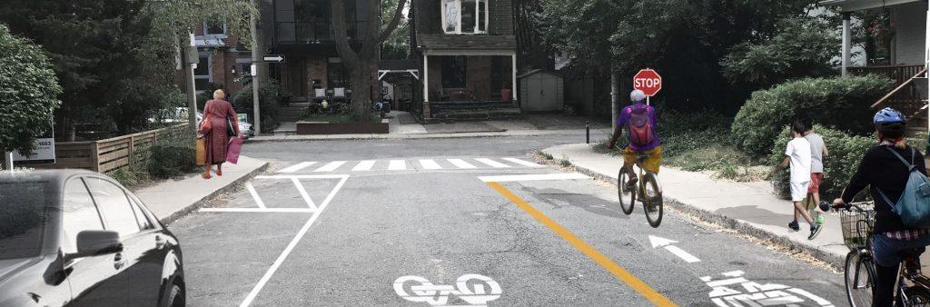 Rendering of proposed bike lane on Palmerston Avenue